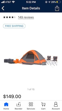 22 piece camping set in a bag