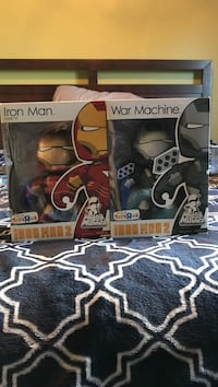 Iron man and war machine Vinyl figures in boxes