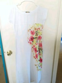 Beautiful white floral dress Sunnyvale