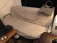 Futon with thick double mattress and 2 inch memory foam mattress IKEA  Laval, H7G 1C4