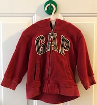 Red and white zip-up hoodie Oakville, L6M 5J5