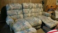 gray and blue floral fabric 3-seat sofa Lacey Township, 08731