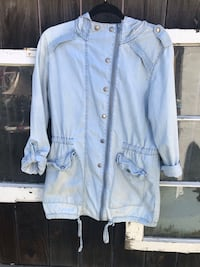 blue button-up jacket Los Angeles, 90020
