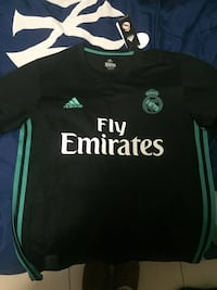 green and black fly emirates Adidas jersey shirt