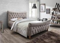 Brand New Queen Size Suede Tufted Platform Bed Frame ONLY Fairfax, 19022