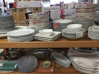 white ceramic plates and bowls Winnipeg