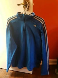 blue and white Adidas zip-up jacket Vaughan, L4J 5R7