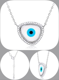 New! Evil Eye mother of pearl necklace  Laval, H7X