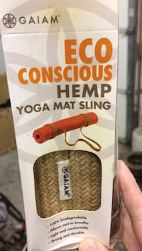 Gaiam Eco Conscious hemp yoga mat sling box Surrey