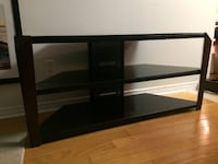 TV Entertainment Unit, Black Tempered Glass. null