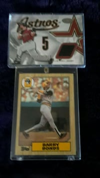 1987 topps #320 Rookie card Barry Bonds  2002 Game Kent, 98030