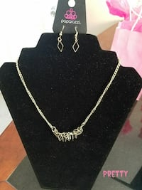 silver Paparazzi necklace and earrings Rocky Mount, 27801