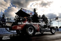 4x6 Color Drag Racing Photo WINGED EXPRESS AA/FA  Mike Boyd Staging Seattle Smyrna