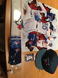Blue Jays hat poster and collectables