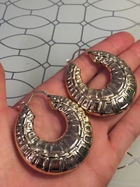 18k GPL Large Hoop Earrings
