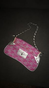 pink and white leather hobo bag Windsor, N9B 2L2