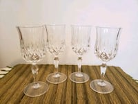 Set of 4 crystal wine glasses  Mississauga, L4Y 2T8