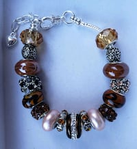 silver and brown beaded bracelet Baltimore, 21224