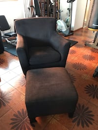 Black and brown  sofa chair