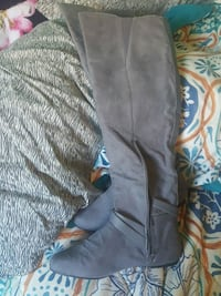 pair of black leather knee-high boots Halifax, B3L 3W7