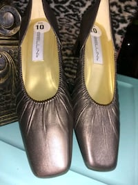 Bellini Bronze Size 10 Leather Dress Heels District Heights, 20747