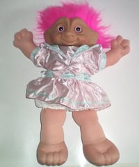 Ace 15 inch Soft Body Treasure Troll Teen Doll with Wishstone Belly Button  London