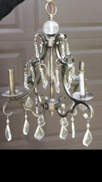 Pewter uplight Crystal chandelier Downers Grove, 60516