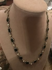 Pretty!!! Silver necklace with Crystal & black onyx Stones Gainesville, 20155