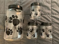 Set of four pet / dog food and treat containers  Gaithersburg, 20878