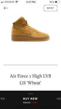 "Air Force 1 High ""Wheat"" Whitby, L1N 0M3"