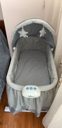 baby's gray and white bassinet Toronto, M9B 6C5