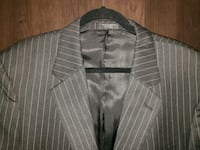 men's  suit jacket black 100% wool