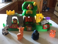 three green, yellow, and red plastic toys Buffalo, 14224