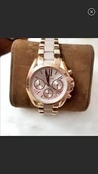 round silver Michael Kors chronograph watch with link bracelet Los Angeles, 90501