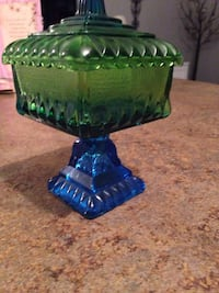 Green and blue glass candy dish Nicholasville, 40356