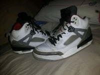 pair of white-and-black Air Jordan 4 basketball shoes Peterborough, K9H 3V7