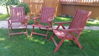 Solid wood Patio Chairs set Toronto, M9C 4T4