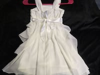 WHITE SHEER GLITTERY GIRLS DRESS SIZE 7 ASKING $25.00 Hagerstown