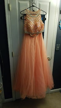 Coral Ball Gown Two Piece Frederica, 19946