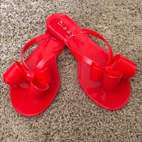 Red Dizzy sandals - Size 8.  Sacramento