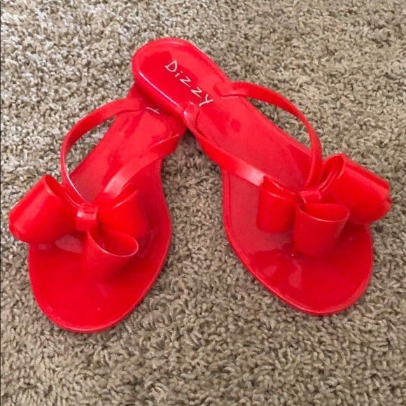 Red Dizzy sandals - Size 8