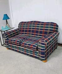 COMFORTABLE PLAID FABRIC LOVESEAT ???? CHEAP DELIVERY! Frisco