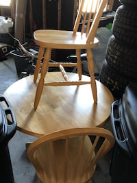 GUC coffee table & chairs solid oak MUST GO Barrie, L4M 6T2