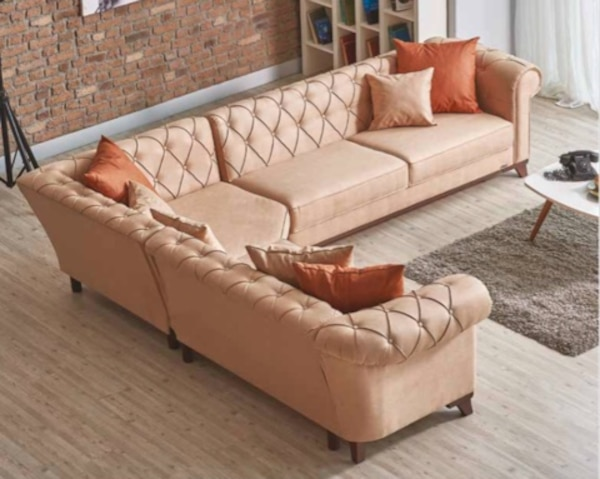 Used Orange Quilted Sectional Sofa For Sale In Chula Vista Letgo