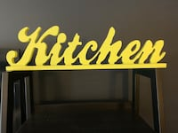 Wood Kitchen sign Silver Spring, 20910