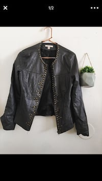 Gray leather studded jacket  Los Angeles, 91402