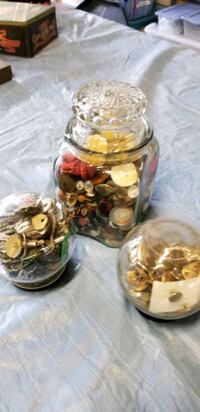 Old button and key collection in vintage jars Ijamsville, 21754