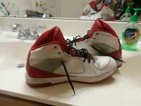 white-and-red basketball shoes
