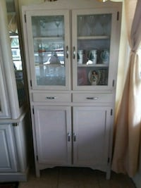 white wooden framed glass display cabinet Delray Beach, 33445