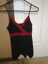 Red and black tank top